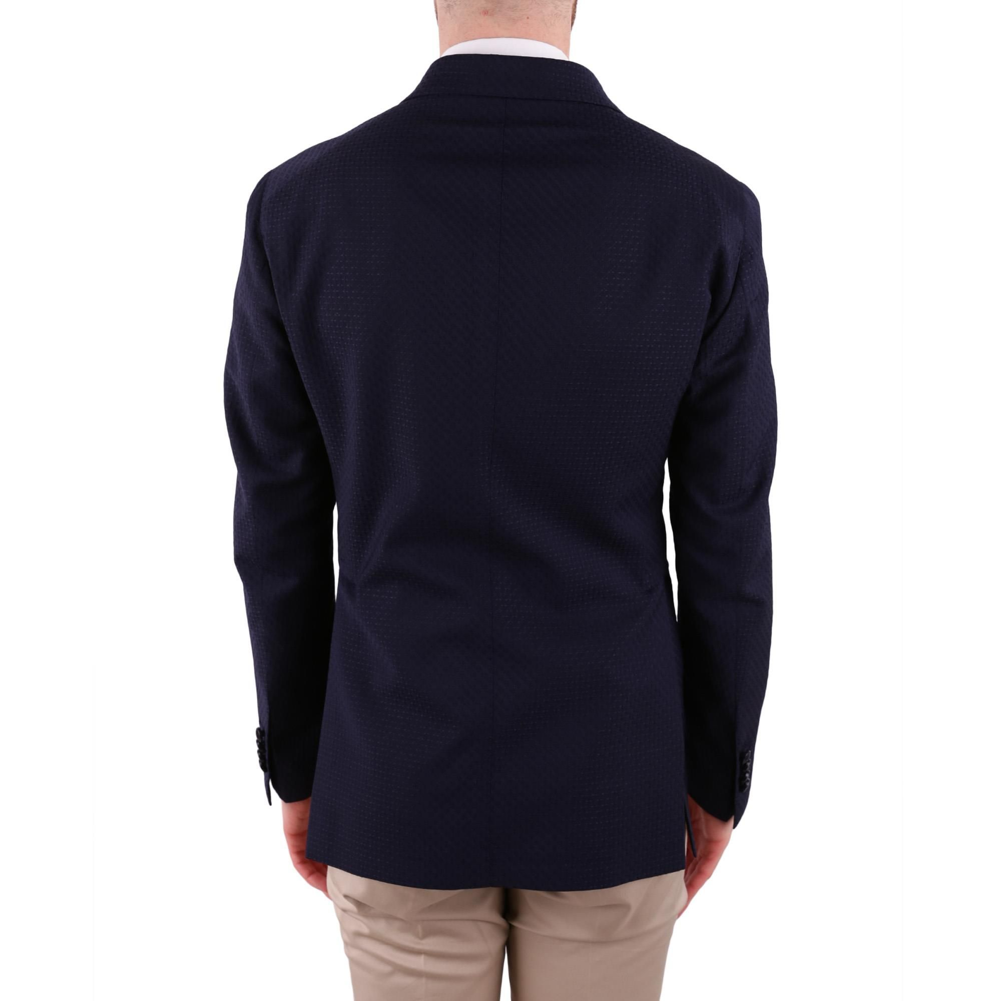TAGLIATORE MEN'S 1SMC26K15UEG127I1064 BLUE WOOL BLAZER