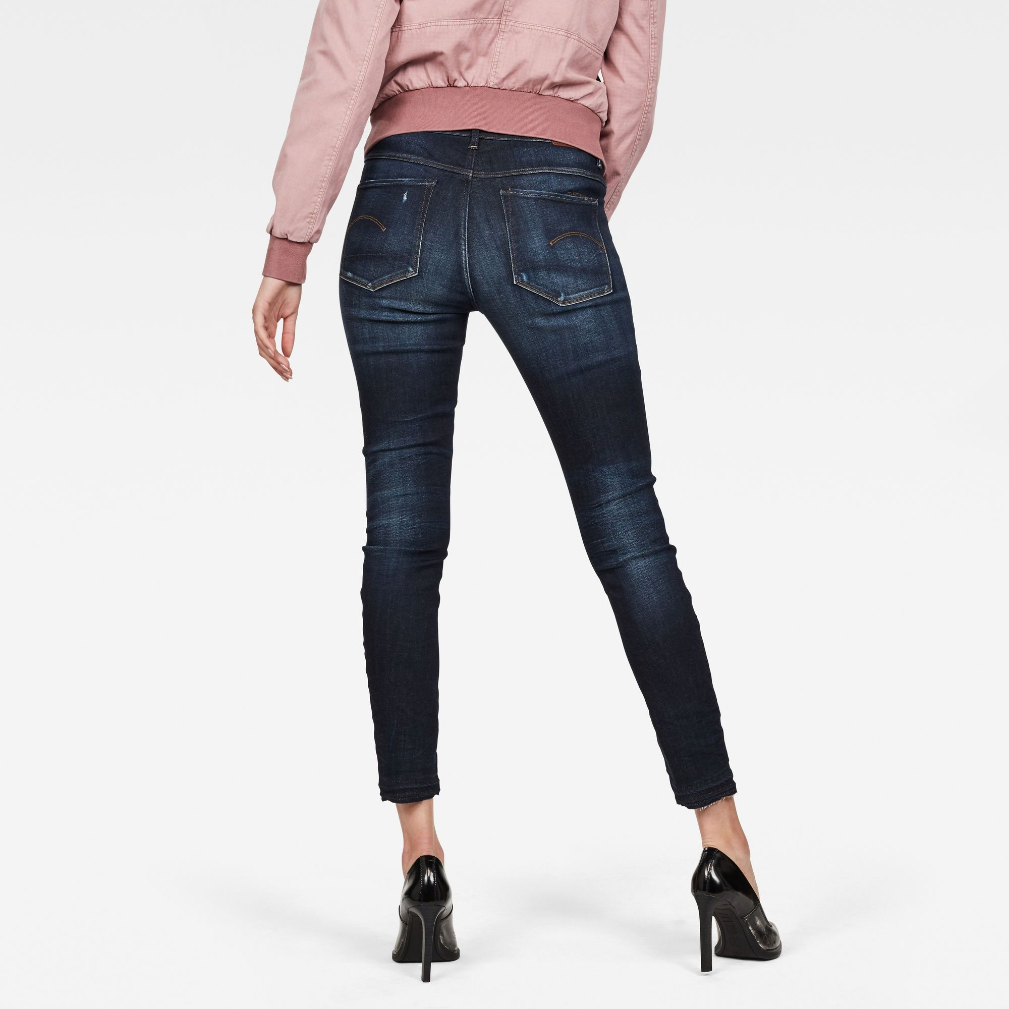 G-Star RAW 3301 High Skinny Ripped Edge Ankle Jeans