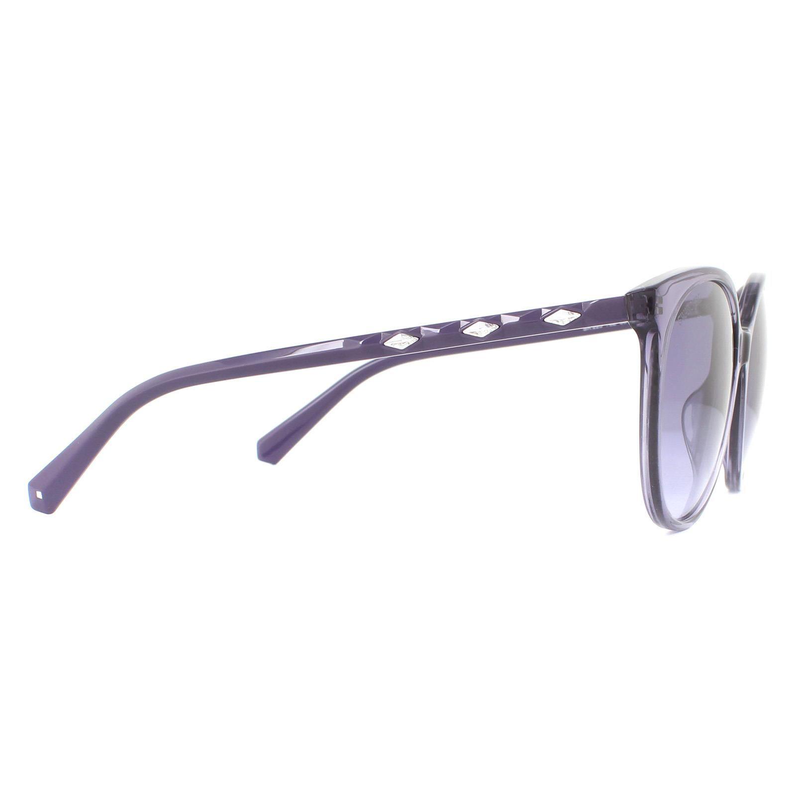 Swarovski Sunglasses SK0223 78Z Glossy Lilac Purple Gradient Mirror