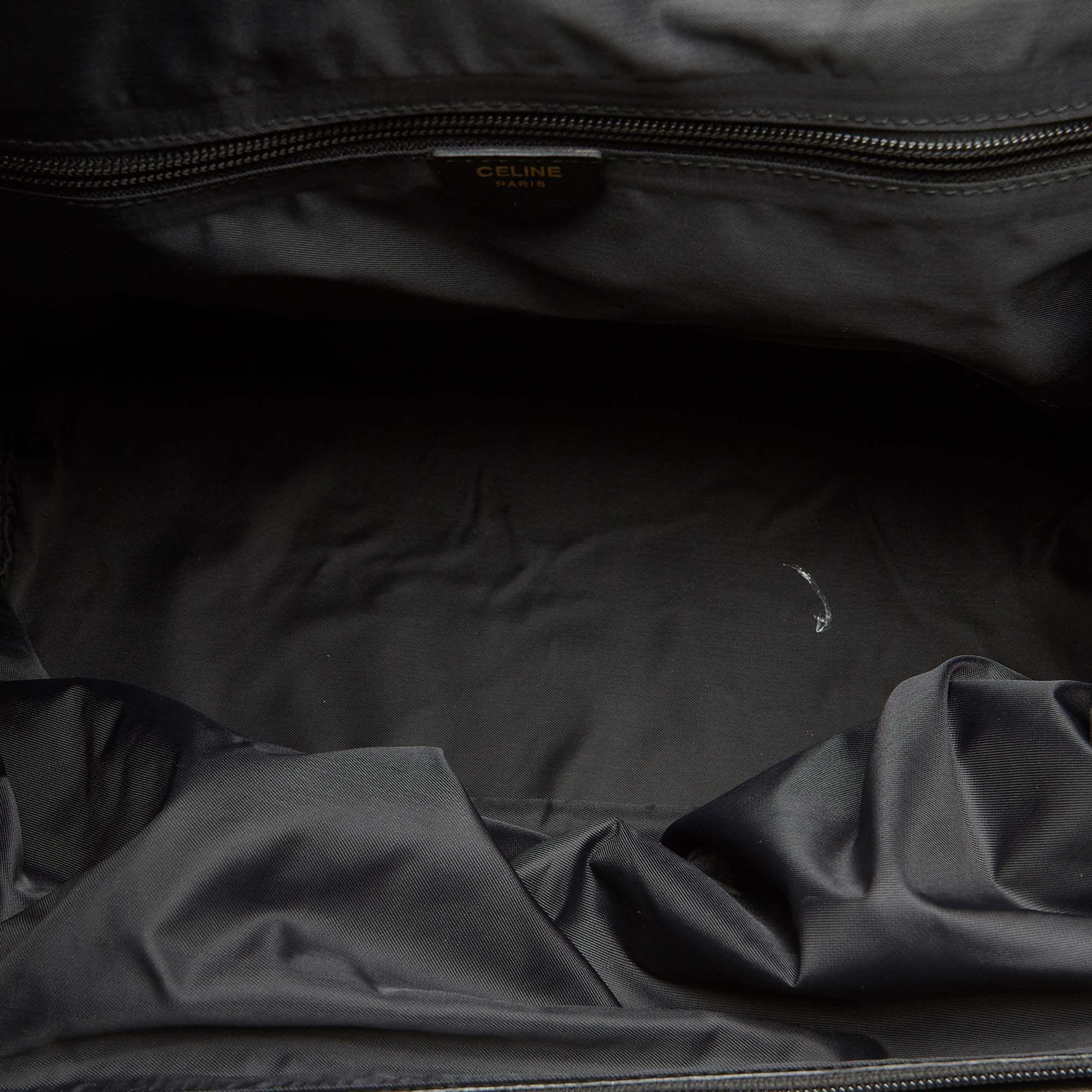 Vintage Celine Nylon Handbag Black