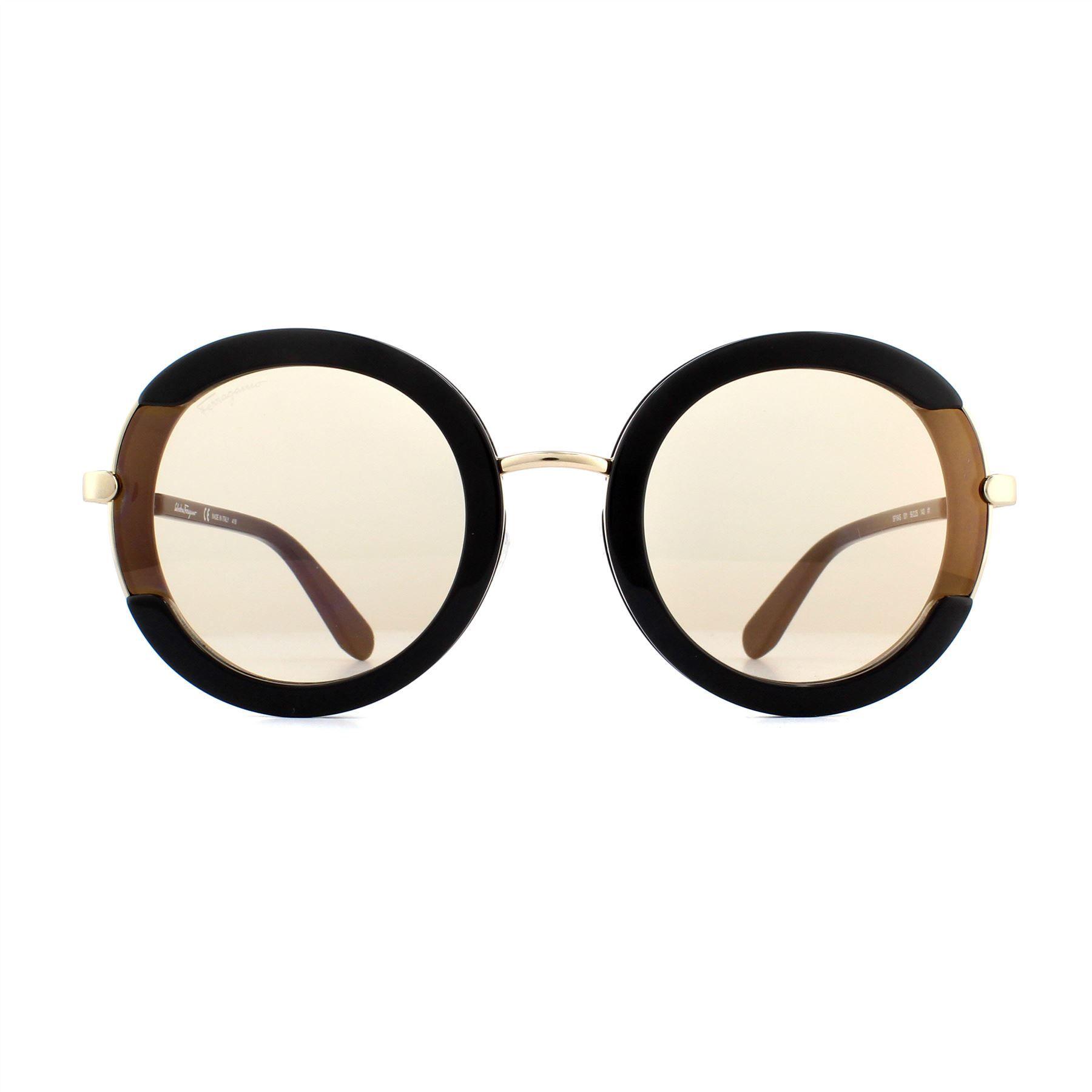 Salvatore Ferragamo Sunglasses SF164S 001 Black Flash Gold