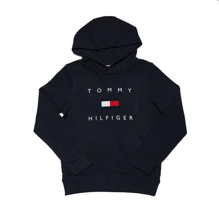 Boys' Tommy Hilfiger Junior Chest Logo Hoodie in Navy