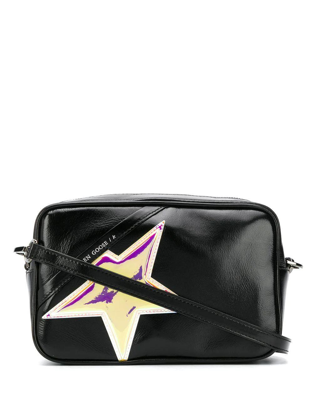 GOLDEN GOOSE WOMEN'S G36WA881B4 BLACK LEATHER SHOULDER BAG