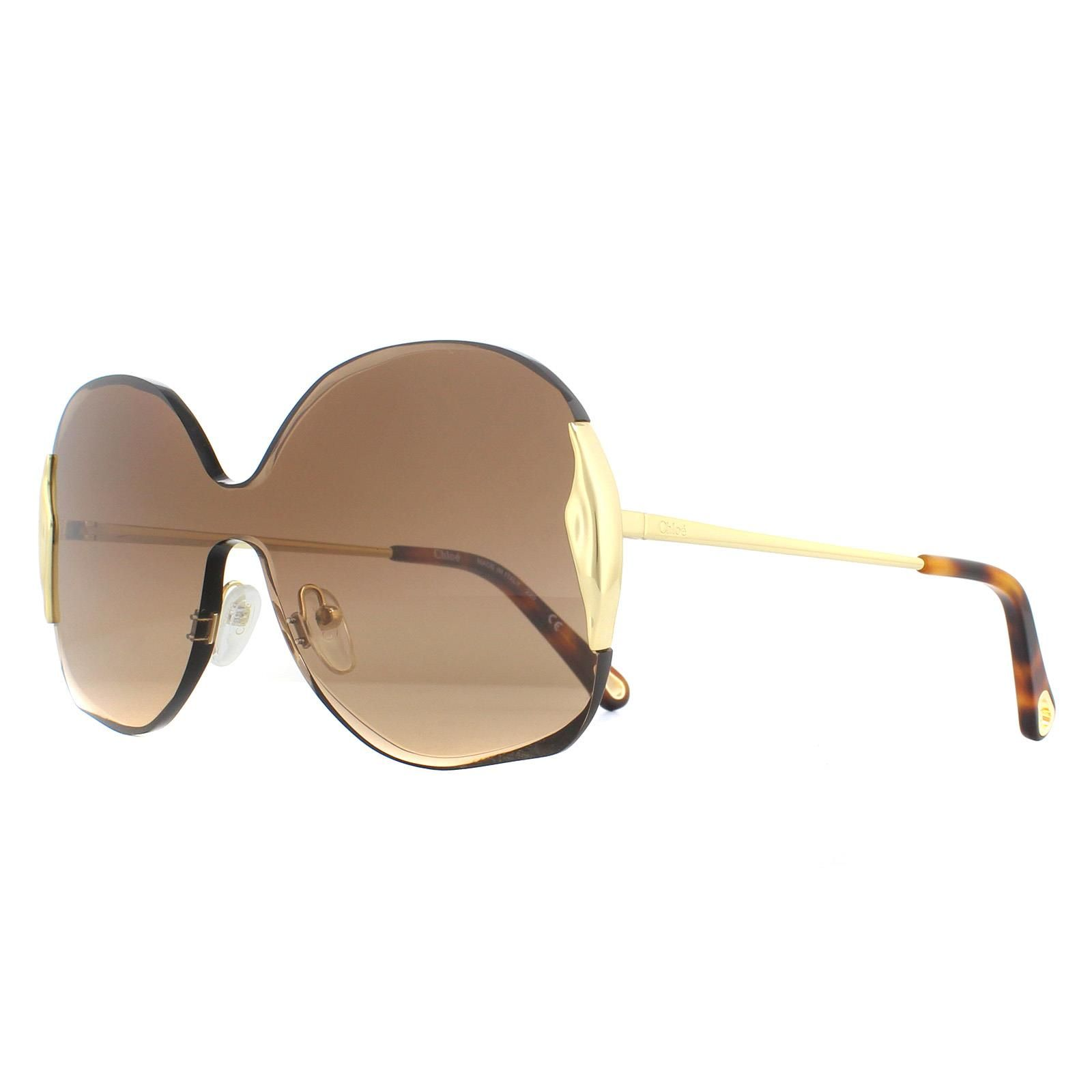 Chloe Sunglasses CE162S Curtis 742 Gold Brown Gradient