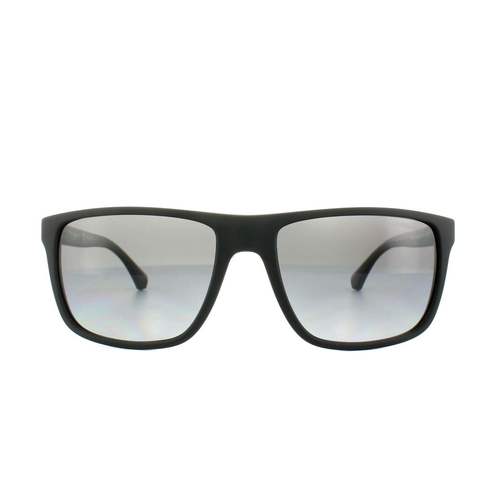 Emporio Armani Sunglasses 4033 5229T3 Black Grey Rubber Grey Gradient Polarized