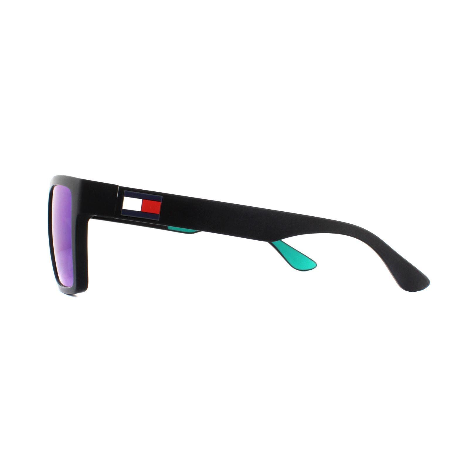 Tommy Hilfiger Sunglasses Th 1605/S 3Ol Z9 Black Green Mirror