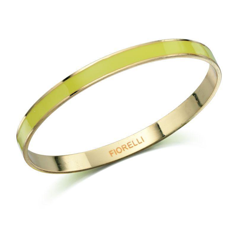 Fiorelli Fashion Gold Plated Yellow Enamel Bangle Bracelet