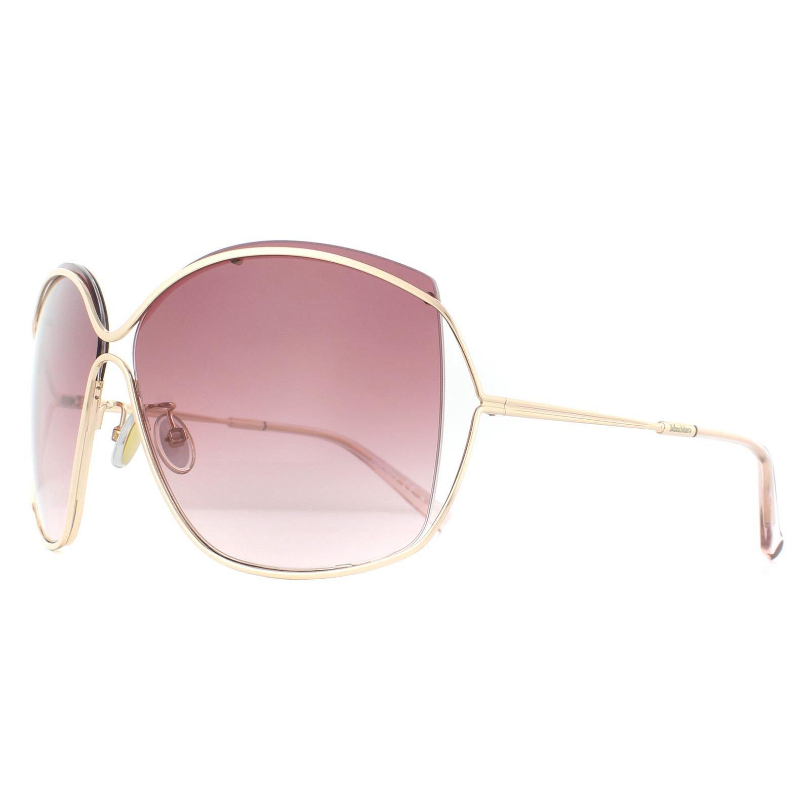 Max Mara Sunglasses Line DDB 3X Gold Copper Pink Gradient