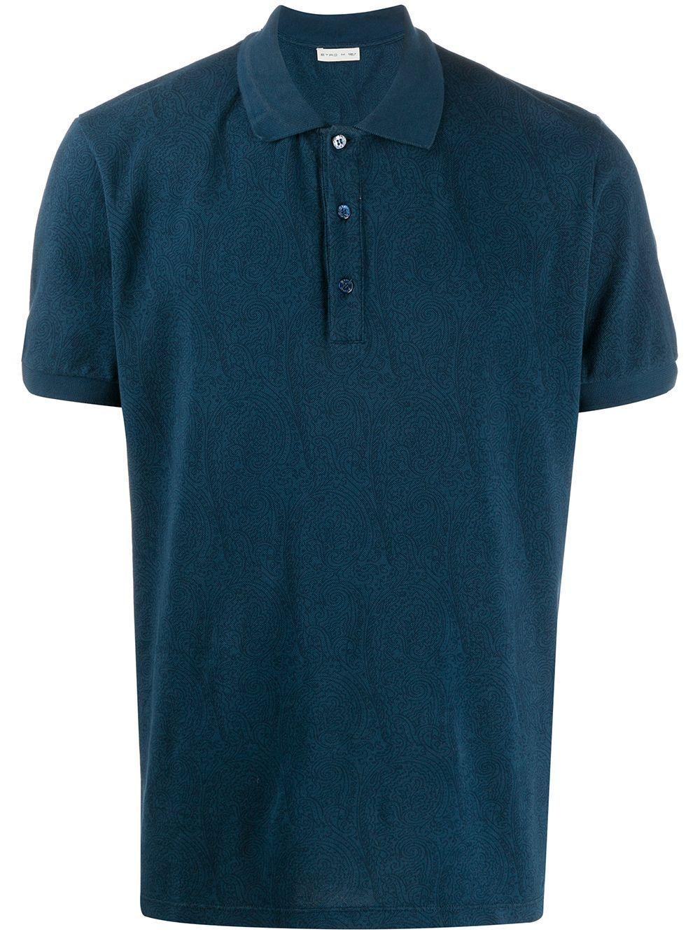 ETRO MEN'S 1Y8059246201 BLUE COTTON POLO SHIRT