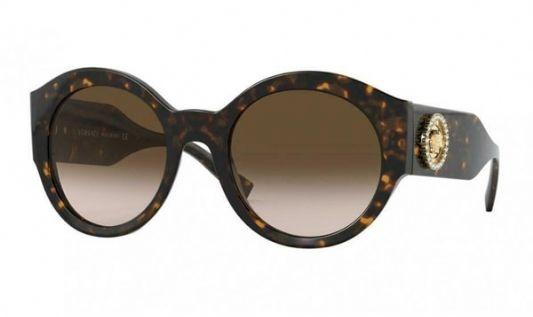 Versace Oval plastic Unisex Sunglasses Havana / Brown Gradient