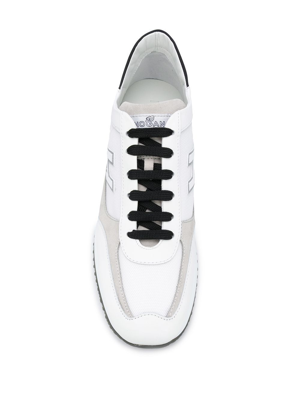 HOGAN MEN'S HXM00N0Q102N7150C4 WHITE LEATHER SNEAKERS