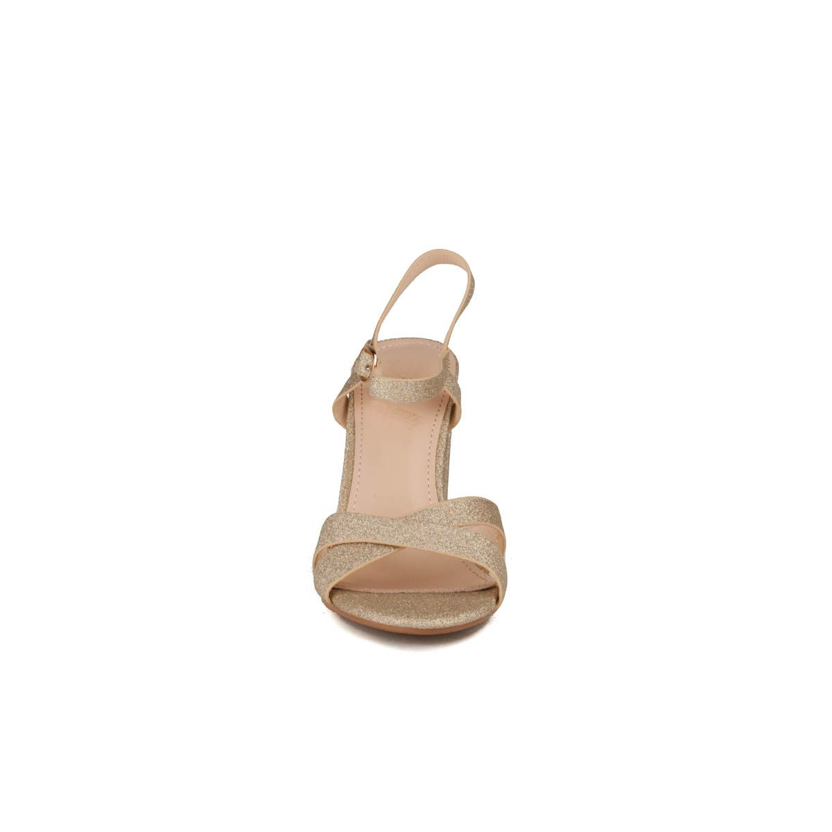 Montevita Block Heel Sandal in Gold