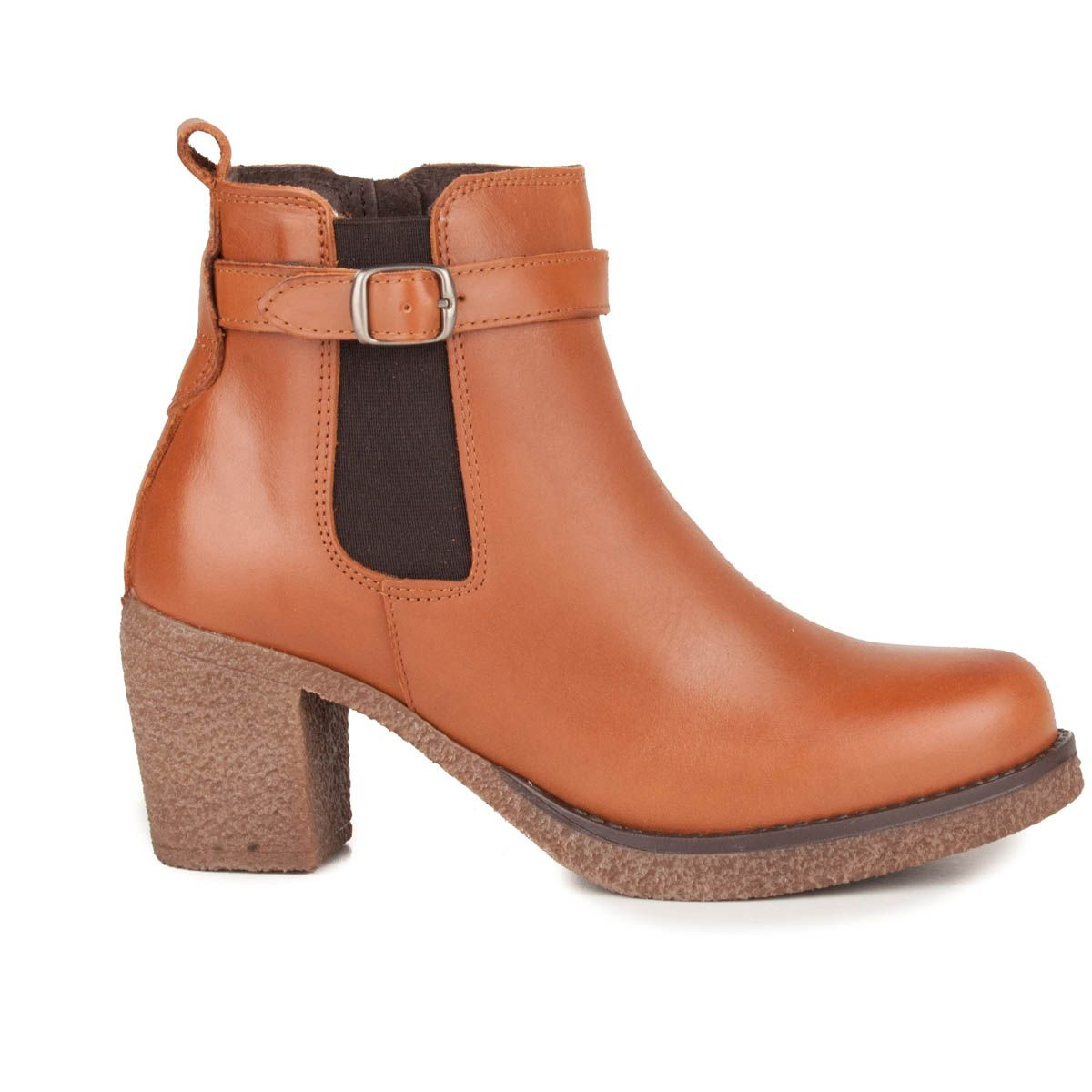 Montevita Buckle Ankle Boot in Camel