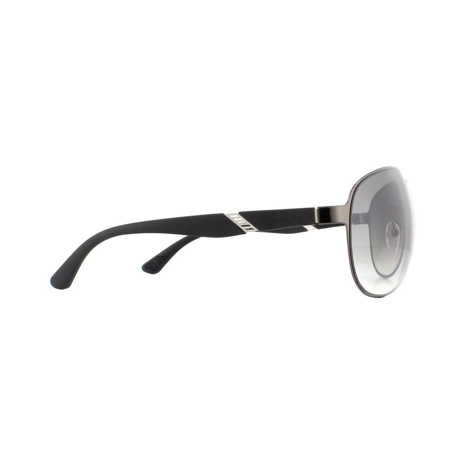 Police Sunglasses SPL534G 568X Shiny Ruthenium Grey Gradient