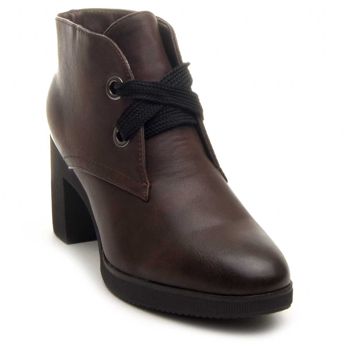 Montevita Heeled Ankle Boot in Brown