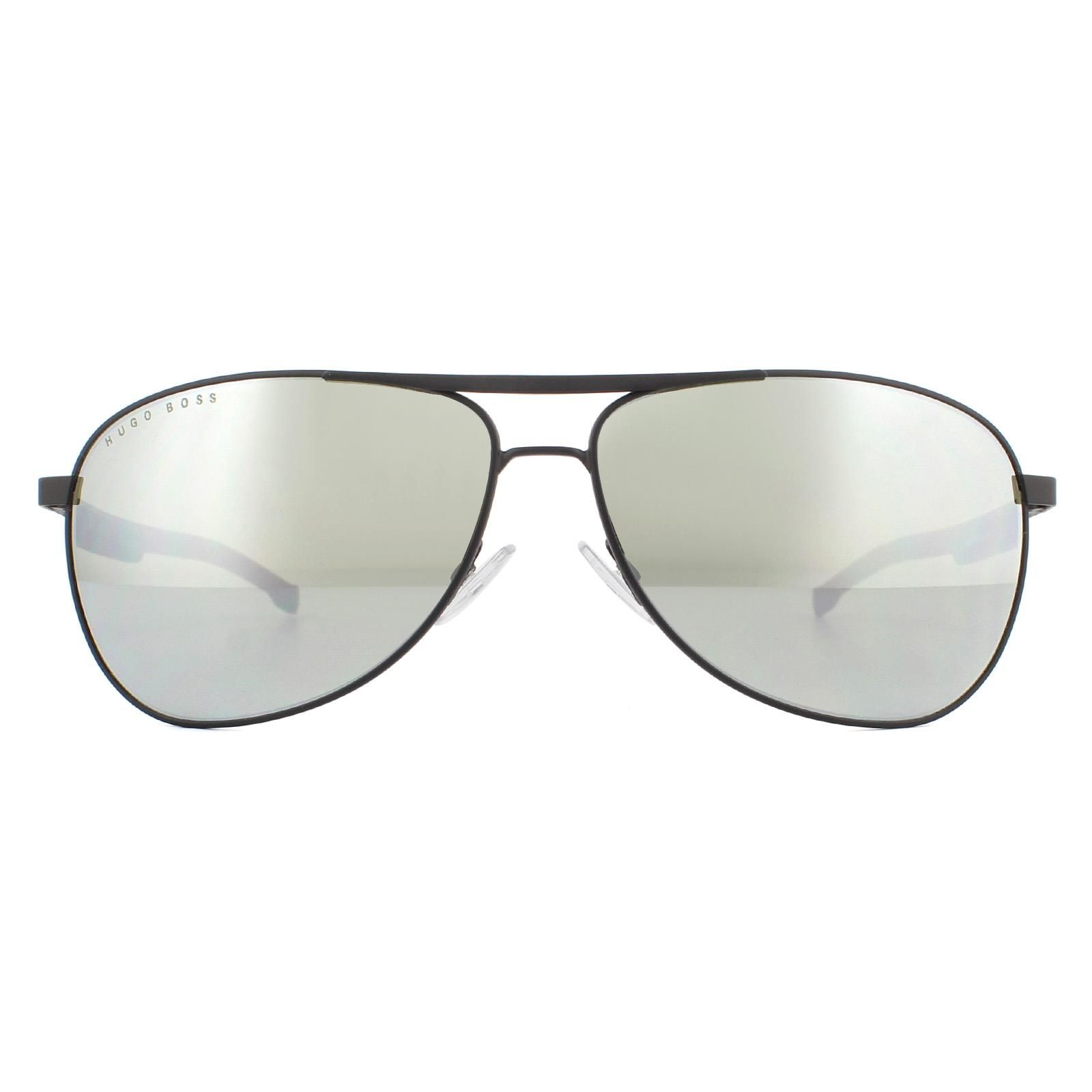 Hugo Boss Sunglasses BOSS 1199/N/S 003/T4 Matte Black Silver Mirror
