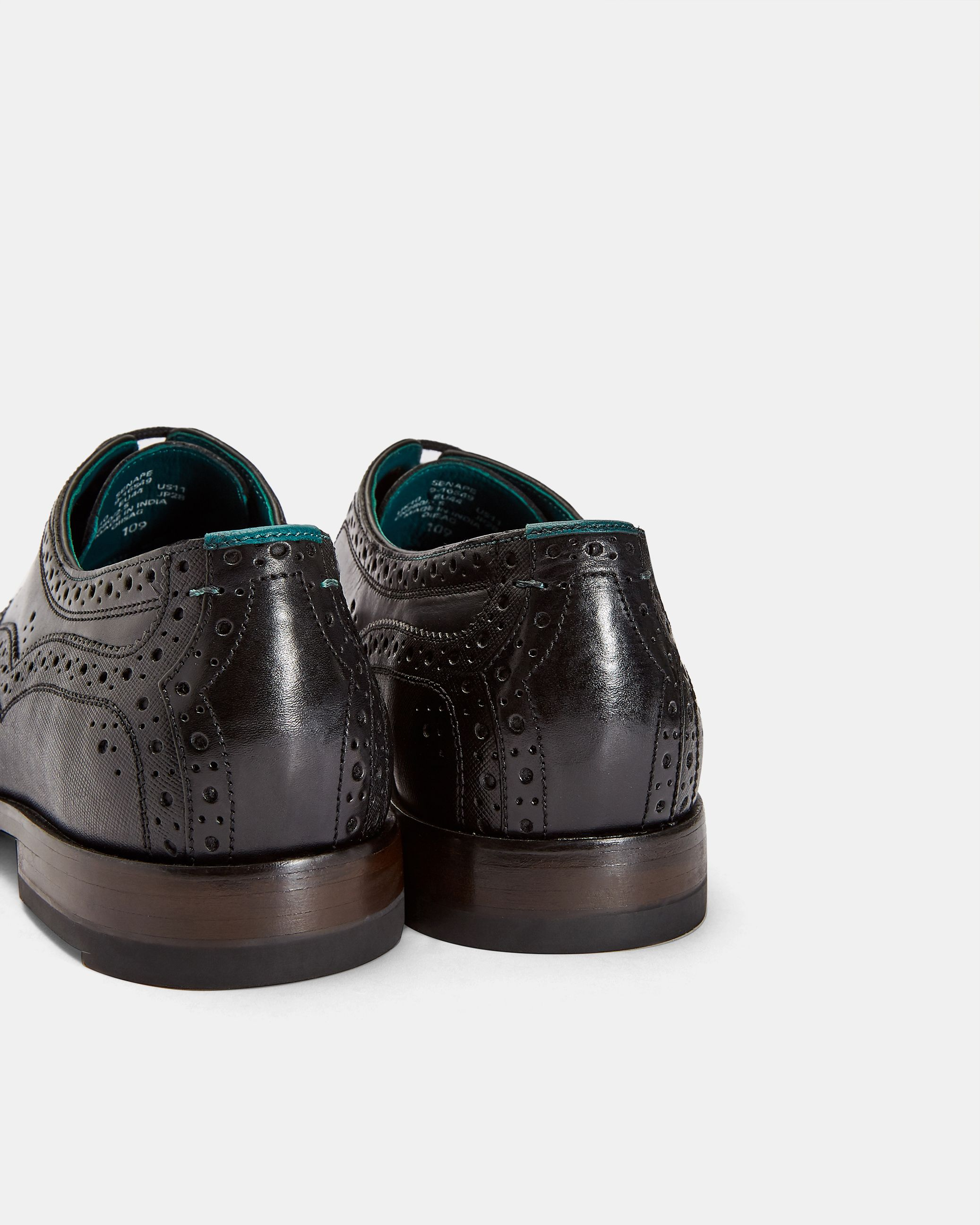 Ted Baker Senape Classic Leather Brogue Derby, Black