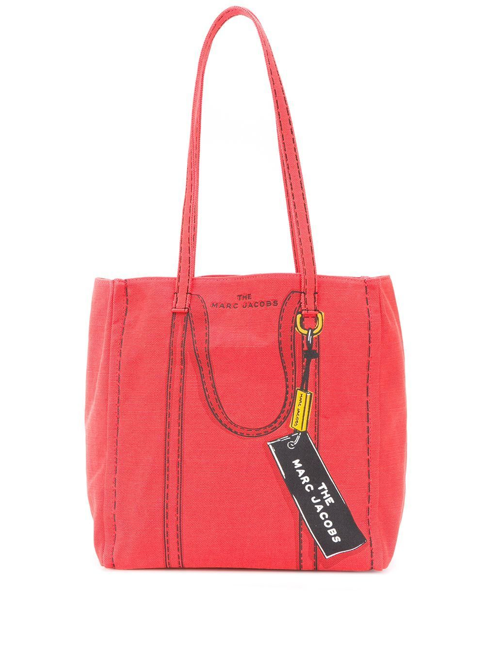 MARC JACOBS WOMEN'S M0015787601 RED COTTON TOTE