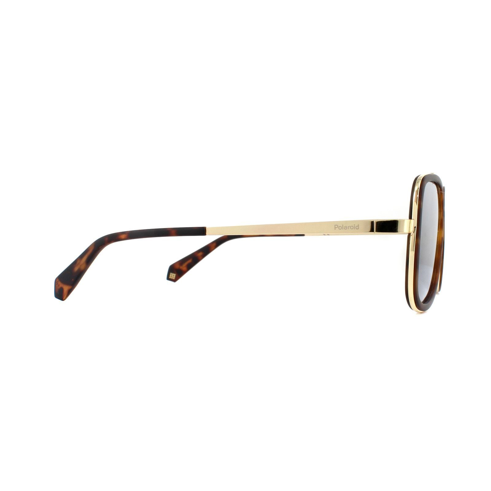 Polaroid Sunglasses PLD 6033/S 086 LM Dark Havana Grey Gold Mirror Polarized