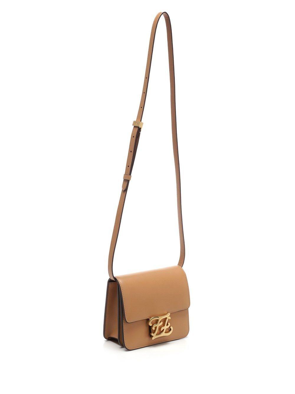 FENDI WOMEN'S 8BT317AAIWF1A13 BEIGE LEATHER SHOULDER BAG