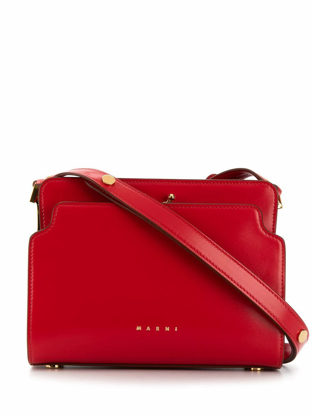 MARNI WOMEN'S SBMP0024Y0P2991Z309M RED LEATHER SHOULDER BAG