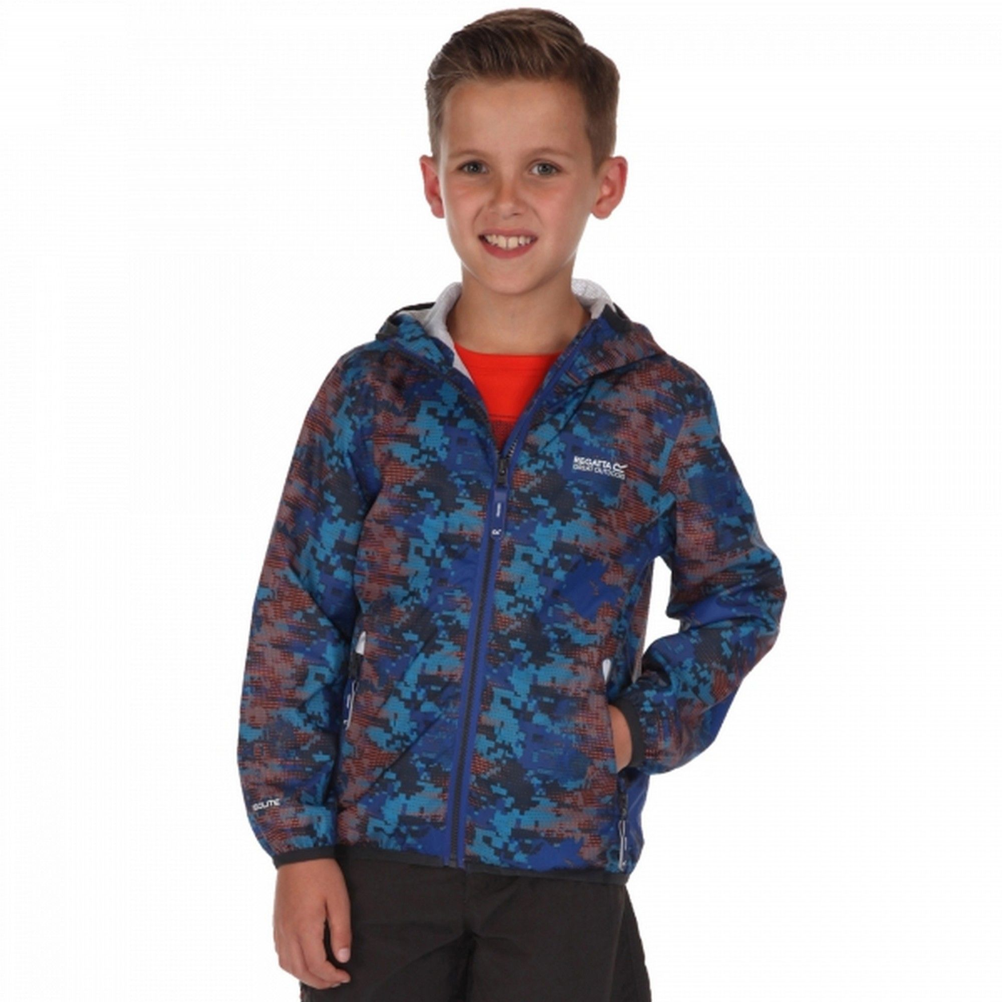 Regatta Great Outdoors Childrens/Kids Printed Lever Pixel Jacket (Surf Spray)