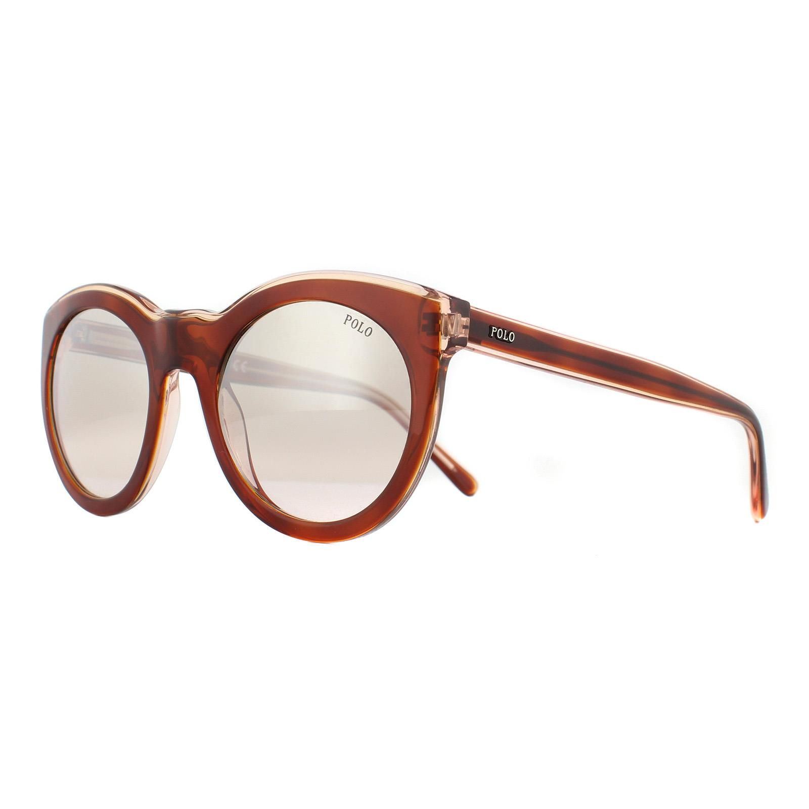 Polo Ralph Lauren Sunglasses 4124 56398Z Havana Honey on Pink Crystal Pink Mirror