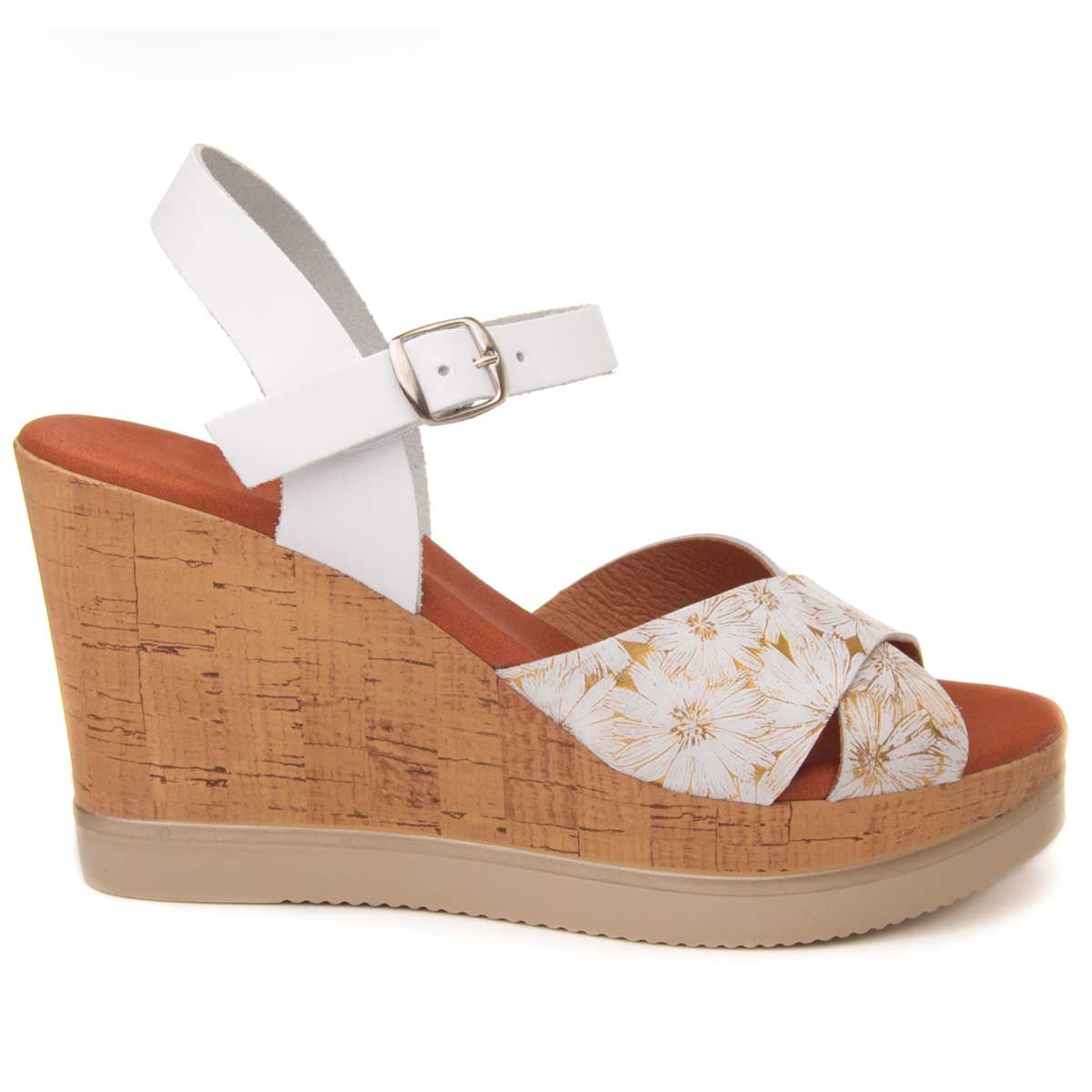 Purapiel Platform Sandal in Gold