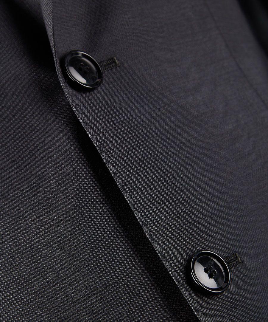 Dark grey virgin wool blazer