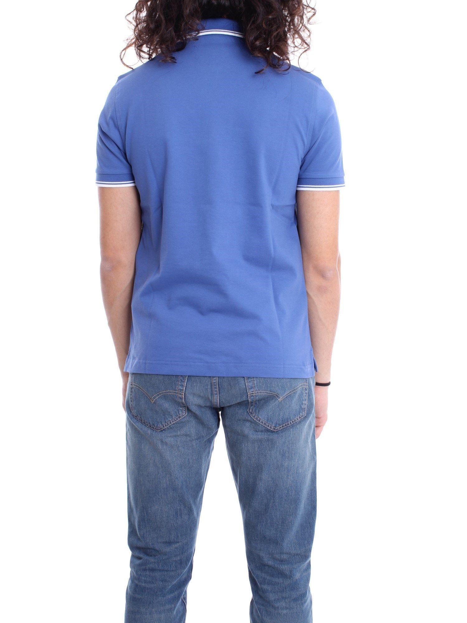 FAY MEN'S NPMB240140SITOU214 BLUE COTTON POLO SHIRT