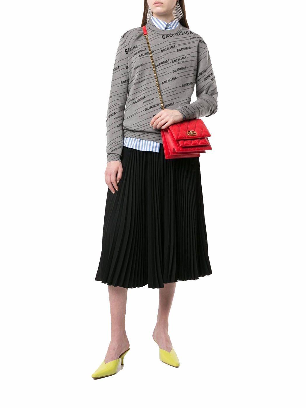 BALENCIAGA WOMEN'S 5806411NH3M6406 RED LEATHER SHOULDER BAG