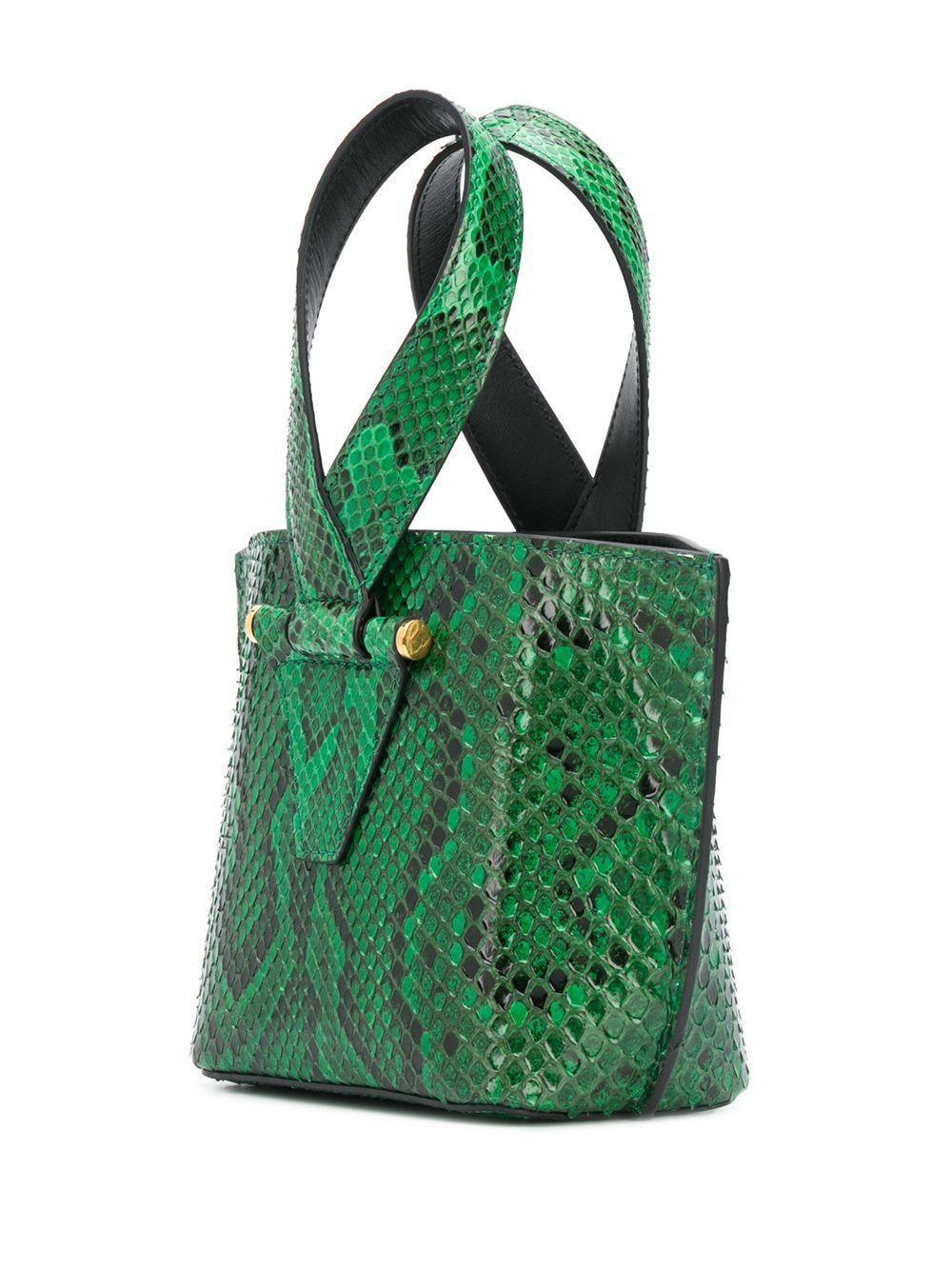 VERSACE WOMEN'S DBFH523D3PMLKVDOT GREEN LEATHER HANDBAG