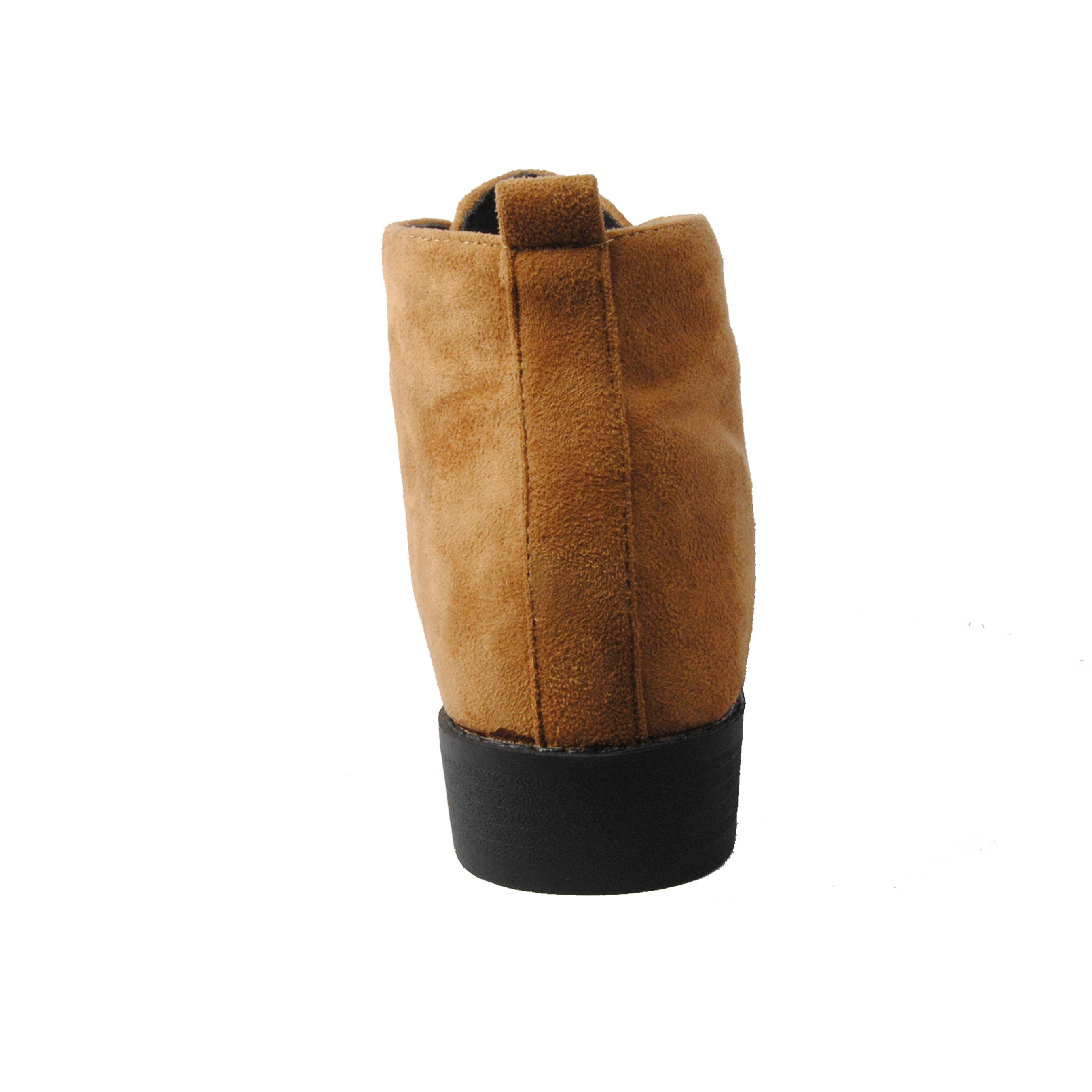 Montevita Wedge Ankle Boot in Camel