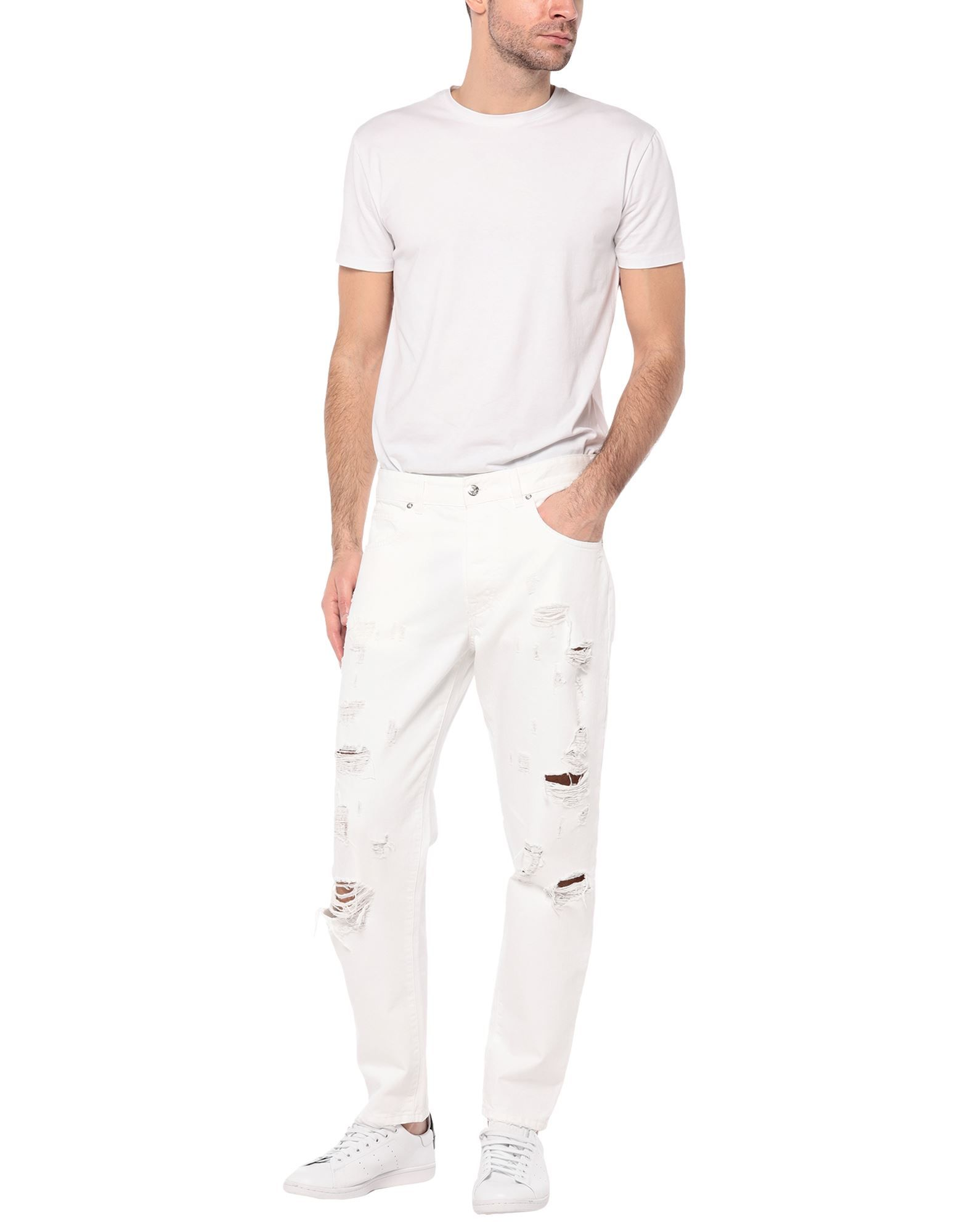 Nine:Inthe:Morning Man Denim trousers Cotton