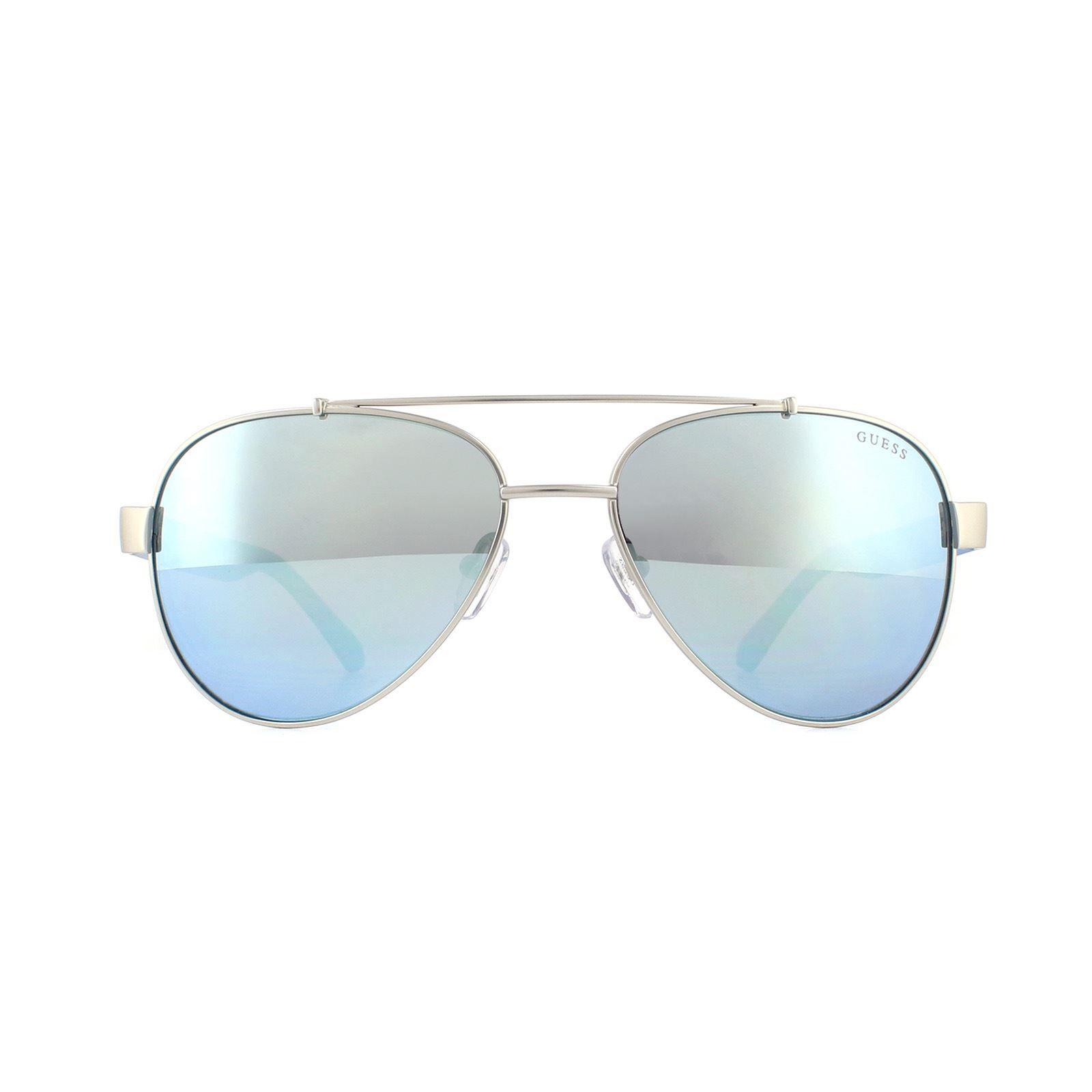 Guess Sunglasses GU6893 10X Silver Blue Mirror