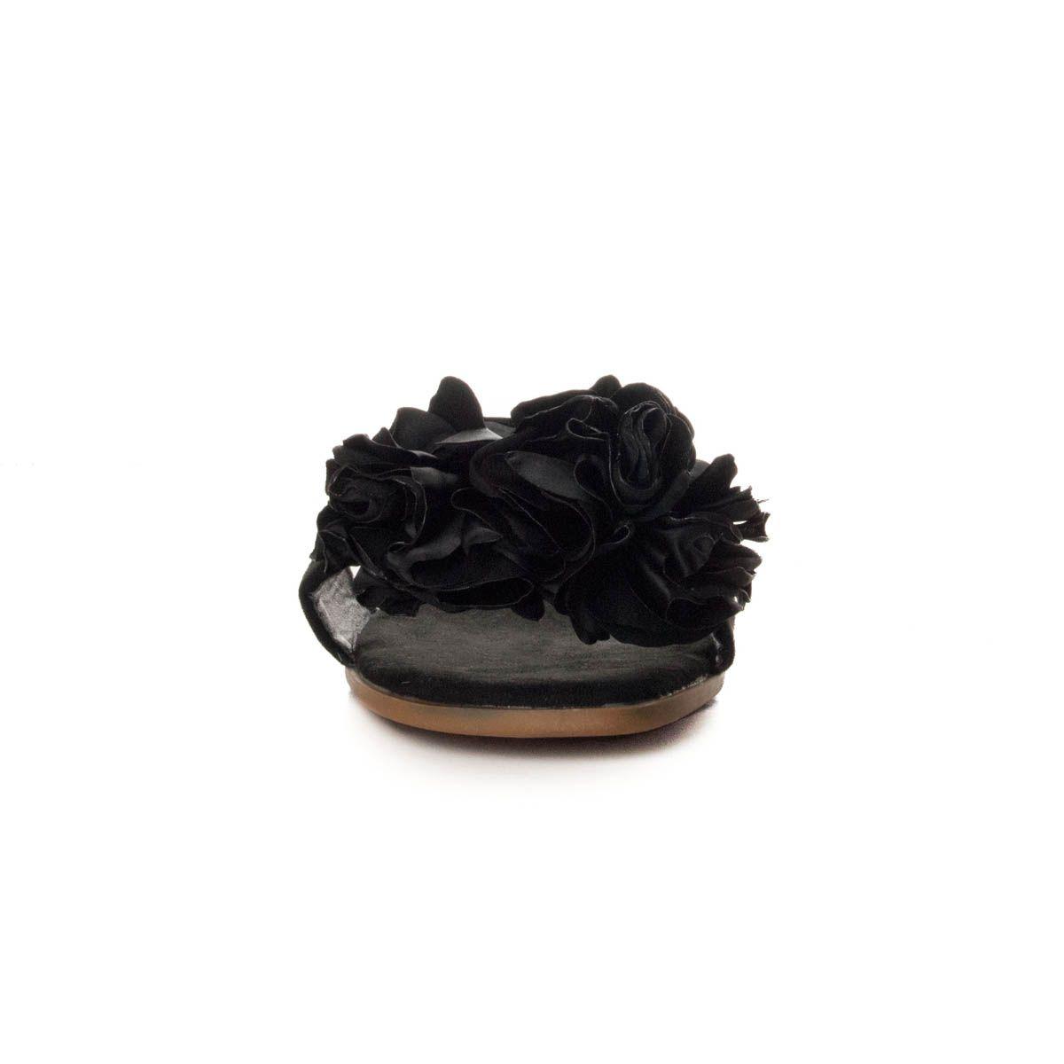 Montevita Flat Sandal in Black