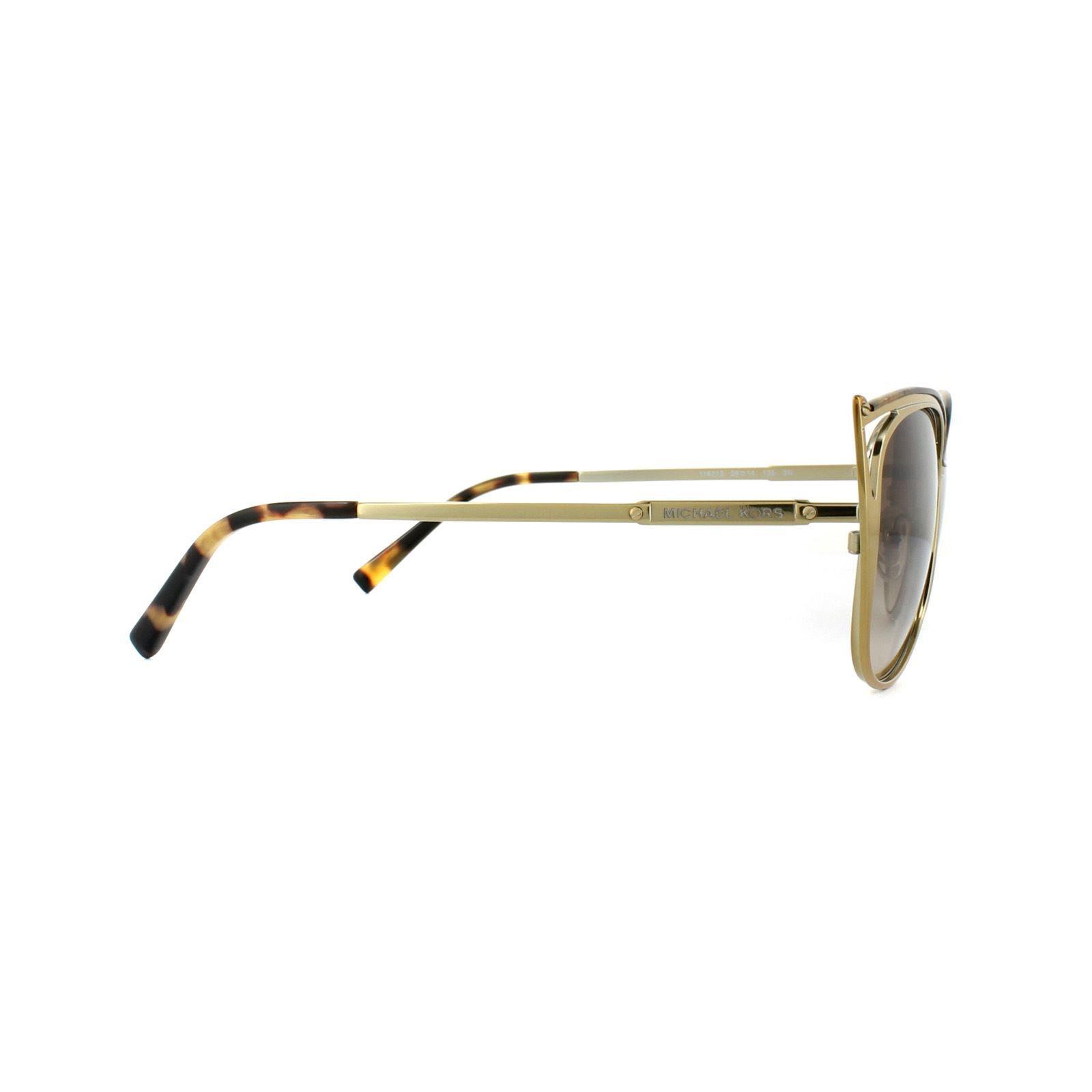 Michael Kors Sunglasses Ina 1020 1163/13 Light Gold Brown Gradient
