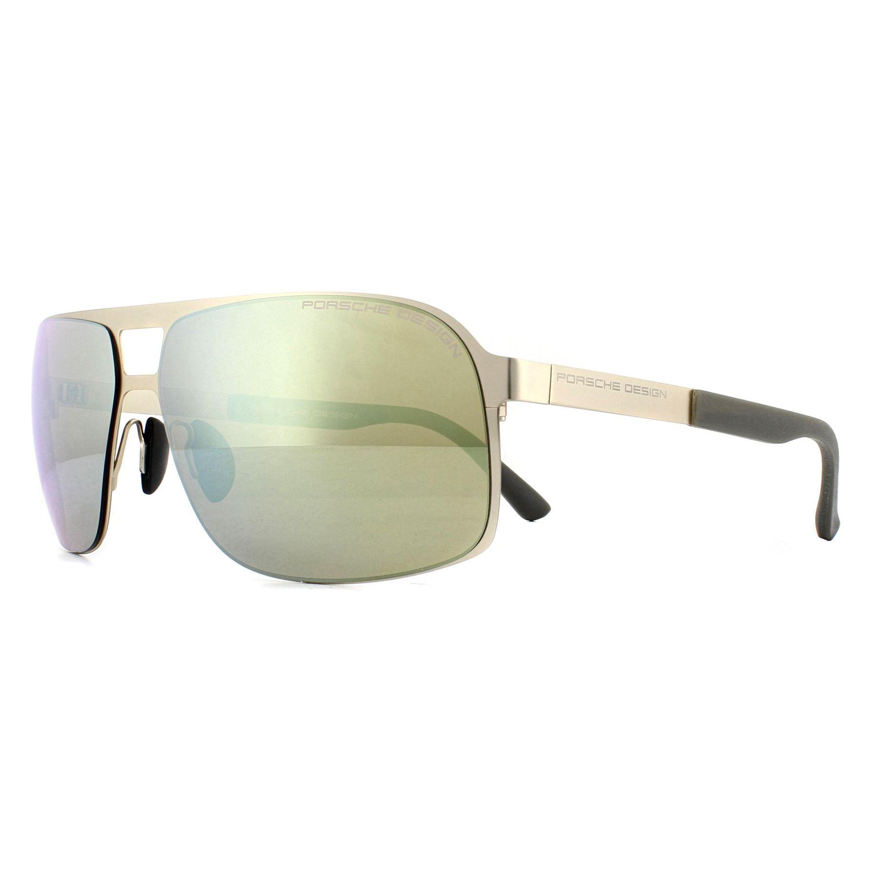 Porsche Design Sunglasses P8579 A Gold Yellow Silver Mirror