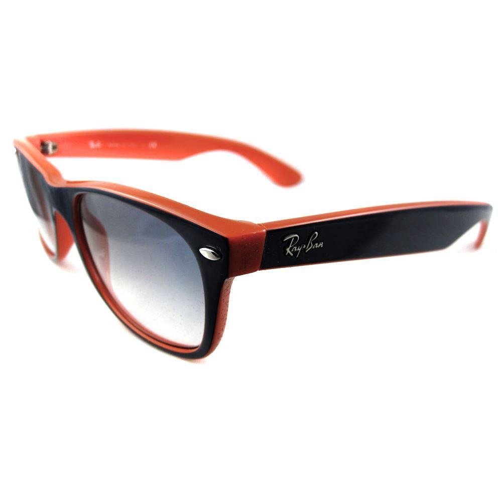 Ray-Ban Sunglasses New Wayfarer 2132 789/3F Blue on Orange Gradient Blue 55mm