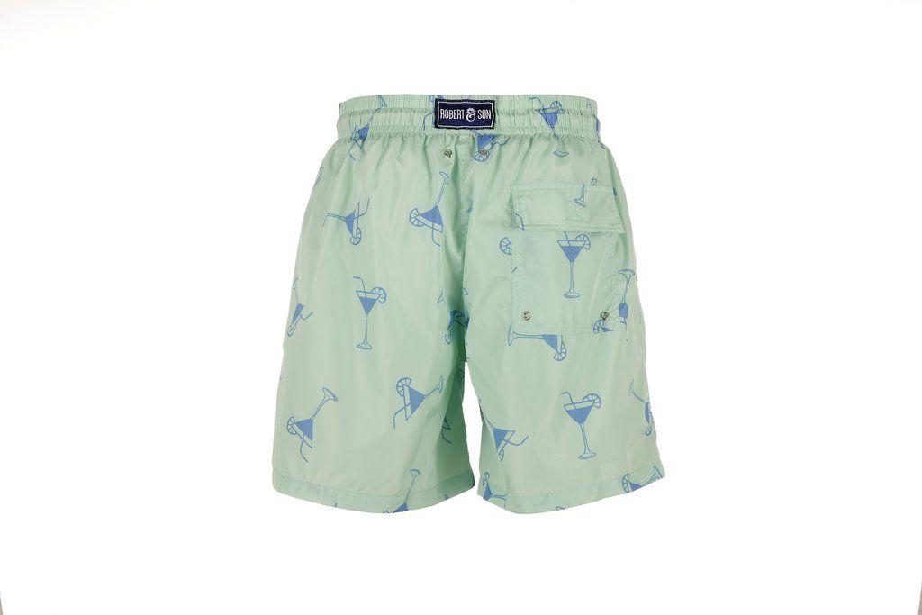 Boy's Green Cocktail Swim Shorts