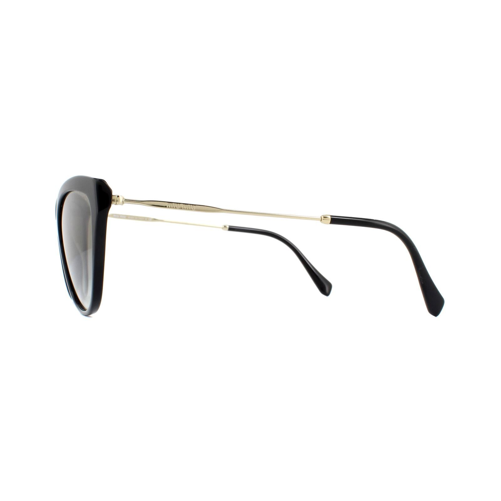 Miu Miu Sunglasses MU03US 1AB5O0 Black Gradient Grey Mirror Silver