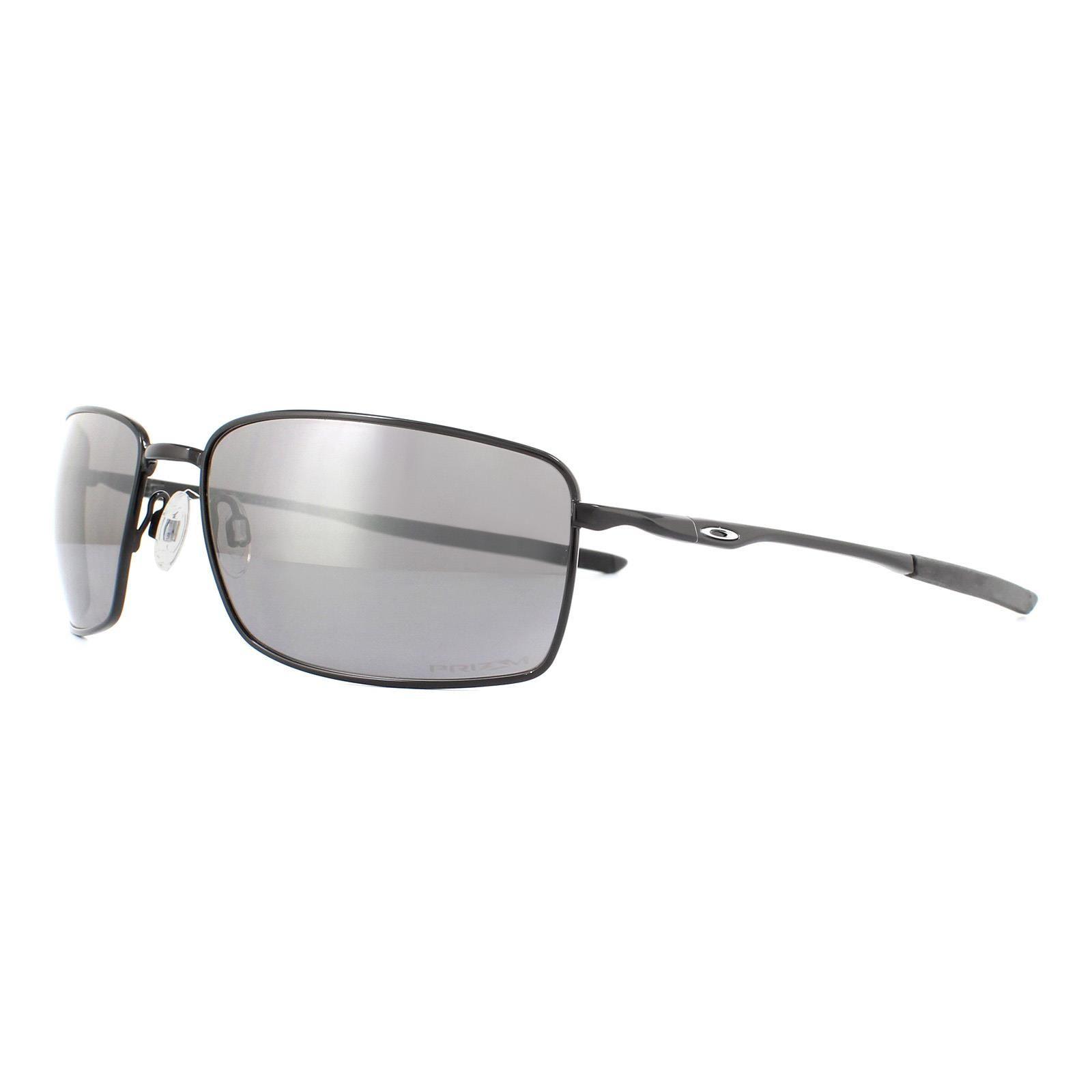 Oakley Sunglasses Square Wire OO4075-13 Polished Black Prizm Black