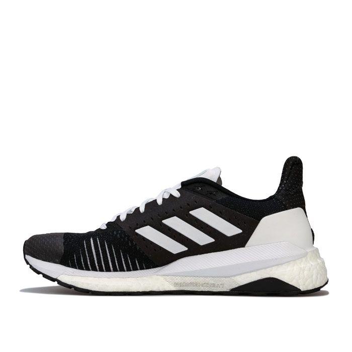 Women's adidas Solar Glide ST Running Shoes in Black-White