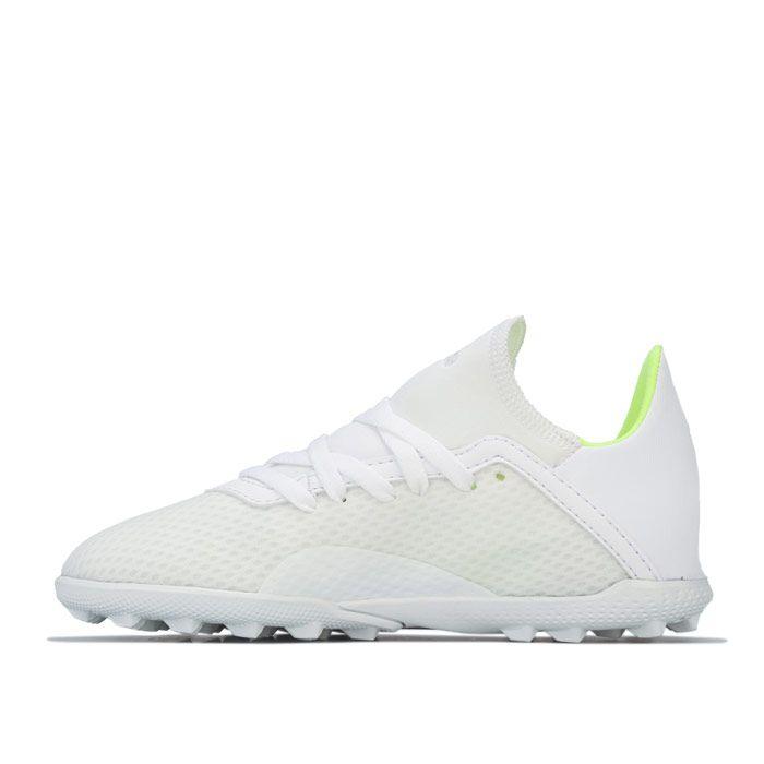 Boy's adidas Children X 18.3 Astro Turf Trainers in White