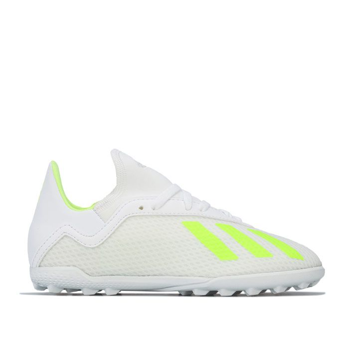 Boy's adidas Junior X 18.3 Astro Turf Trainers in White