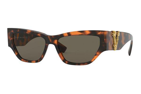 Versace Cat eye plastic Unisex Sunglasses Havana / Brown