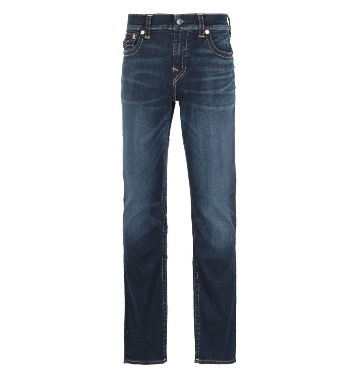 True Religion Ricky Straight Flap Dark Fusion Blue Jeans