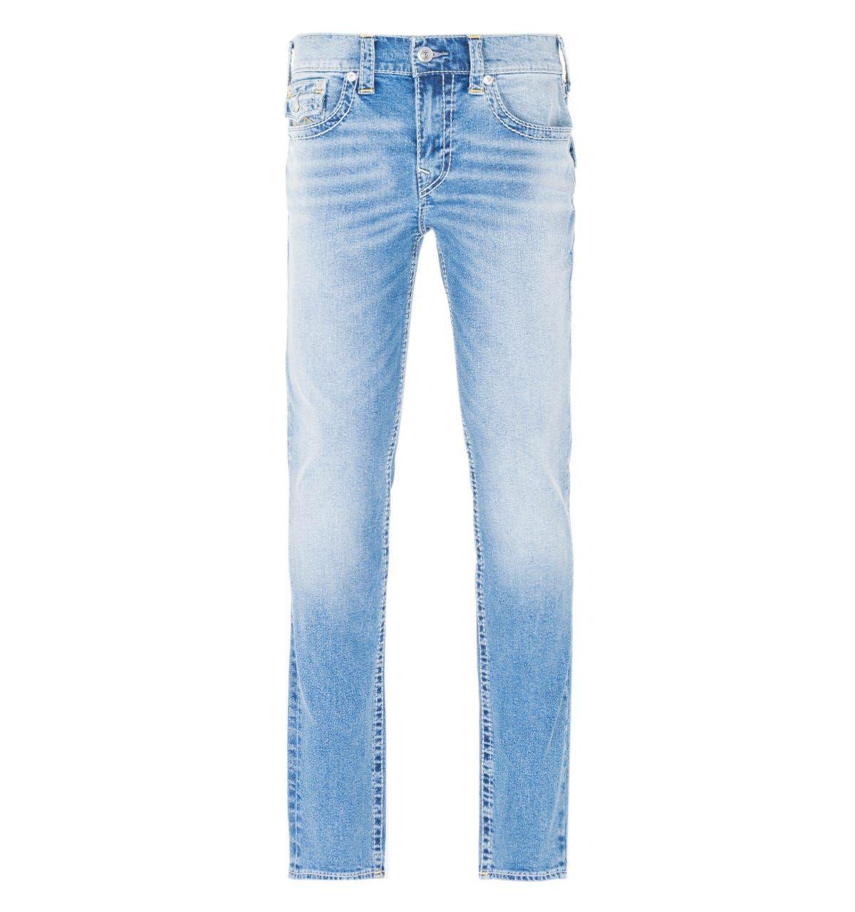 True Religion Rocco Big T Skinny Jeans - Light Blue