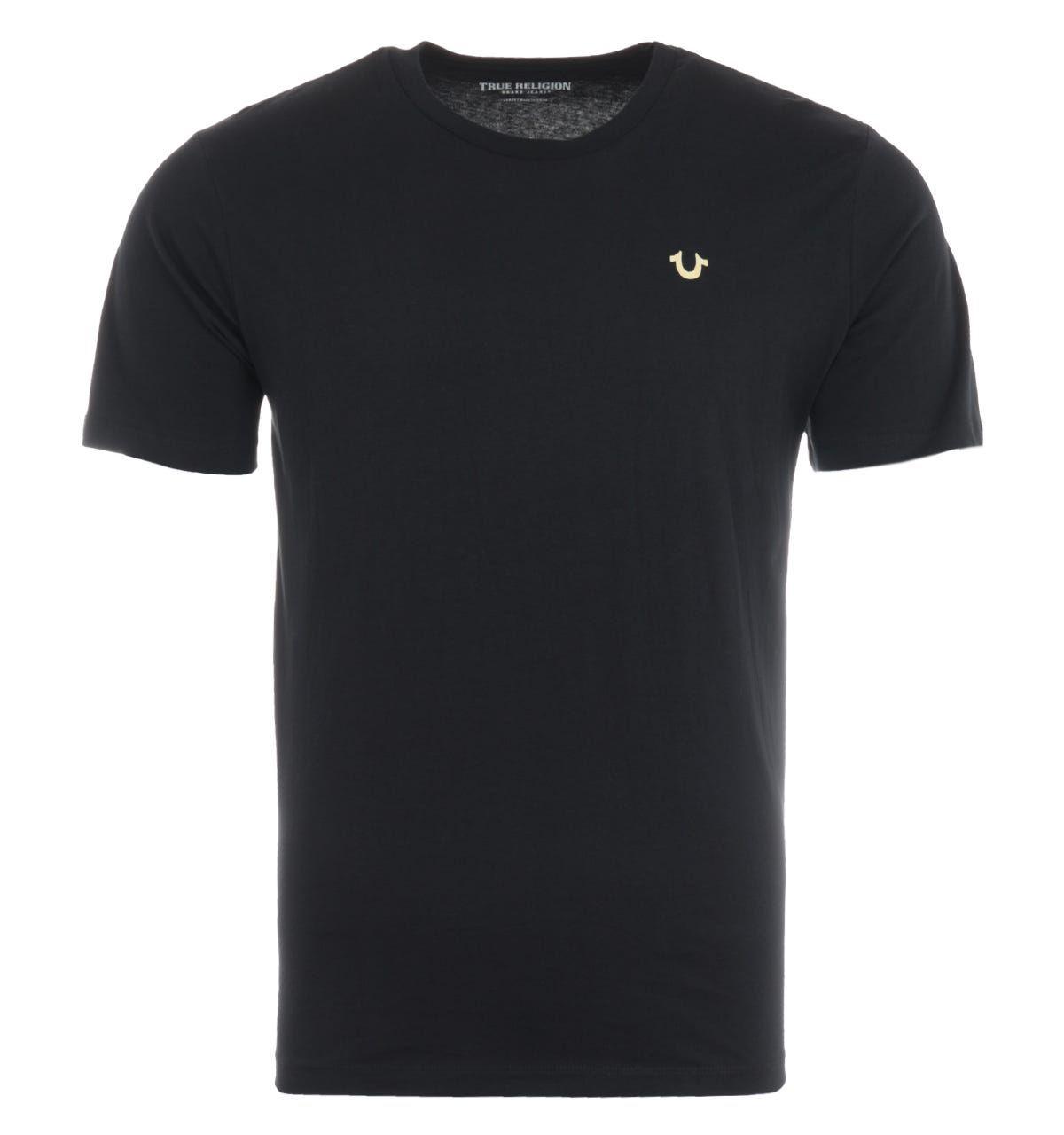 True Religion TR Logo T-Shirt - Black