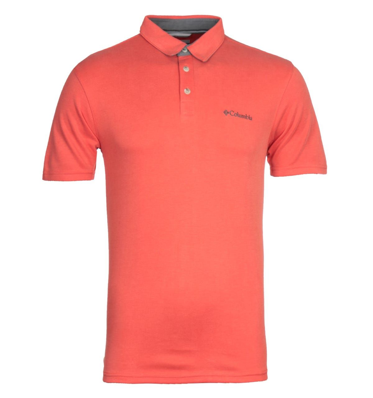 Columbia Nelson Point Red Polo Shirt